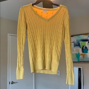 Yellow Merona Cable Knot V-neck Sweater